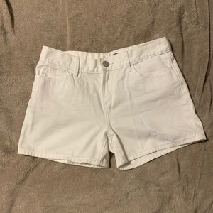 Old Navy White Jean Shorts
